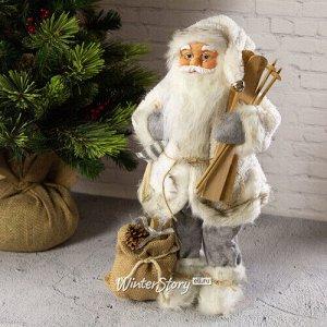 Санта в овечьей шубе с подарками и лыжами 46 см (Peha)