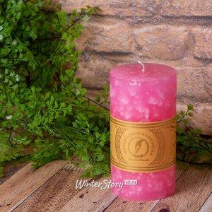 Декоративная свеча Ливорно Marble 150*80 мм розовая (Омский Свечной)
