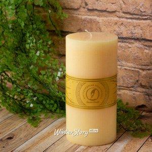 Декоративная свеча Ливорно 205*100 мм крем-брюле (Омский Свечной)