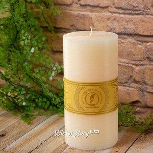 Декоративная свеча Ливорно Рустик 205*100 мм кремовая (Омский Свечной)