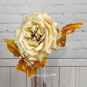 Искусственная роза Глория Деи 57 см, шампань (EDG)