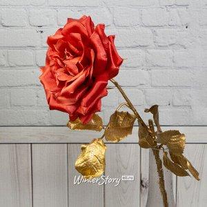 Искусственная роза Глория Деи 57 см, коралловая (EDG)