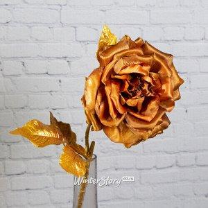 Искусственная роза Глория Деи 57 см, медная (EDG)
