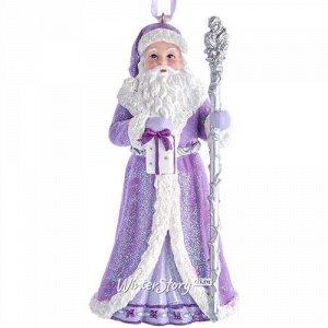 Елочная игрушка Санта Клаус из долины Луары 13 см с гостинцем, подвеска (Kurts Adler)