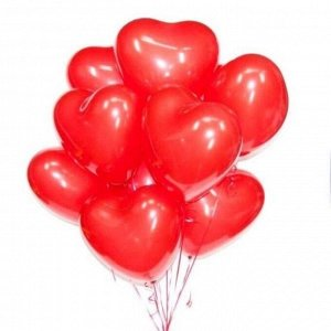 "Шар сердце Сердце 12""/30cm Красный Цена за упаковку, упаковка 25 шт."