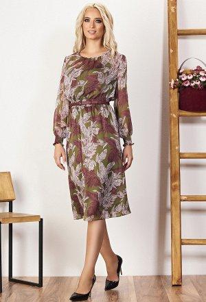 Платье Bazalini 3536 зелено-бордовый