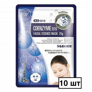 Косметическая маска для лица с коэнзимом Mitomo - 10 шт