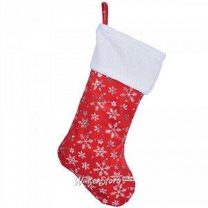 Новогодний носок для подарков Снежинки 42 см (Koopman)