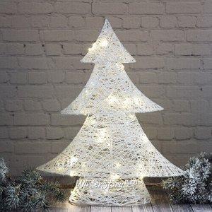 Светящаяся елка Эрика 40 см, 30 теплых белых LED ламп, на батарейках, IP20 (Kaemingk)