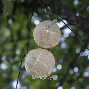 Садовая гирлянда на солнечной батарее Китайские фонарики 2.7 м, 10 теплых белых LED ламп, черный провод, IP44 (Star Trading)