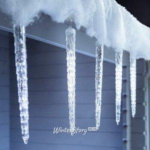 Светодиодная гирлянда Тающие Сосульки 8 шт, 28 см, 96 холодных белых LED ламп, прозрачный ПВХ, IP44 (Kaemingk)