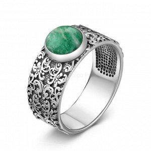 Кольцо из чернёного серебра с нат.зелёным амазонитом 1310371366о1