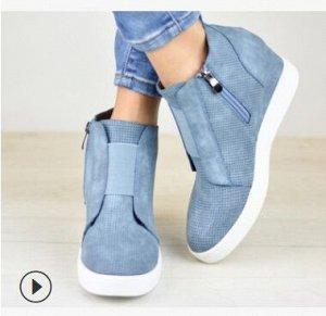 Ботинки, синий