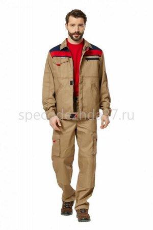 """Куртка рабочая """"Форд"""" цв.беж/т.синий/красный"""