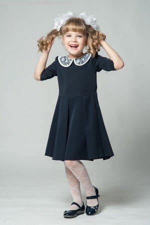 Школьная форма синяя (платье, фартук)