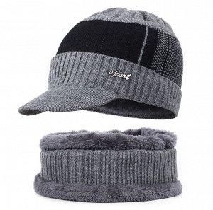 Комплект: шапка + кольцевой шарф.