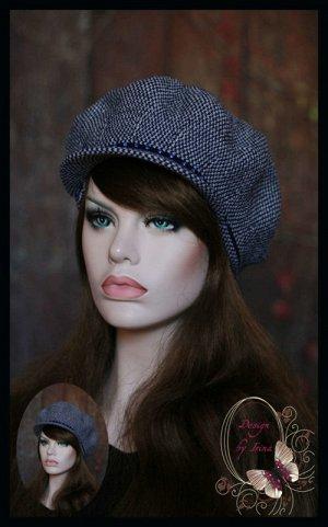 Женская кепи с козырьком ЭСМИ (т.син)