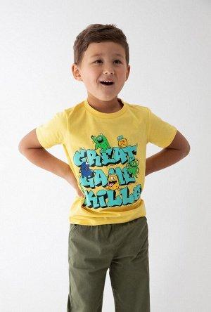 Футболка детская для мальчиков Epic желтый