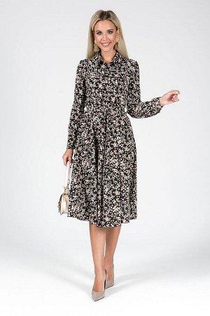 Платье Неада №1.Цвет:черный/бежевый