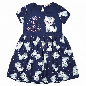 Платье для девочки (темно-синий)