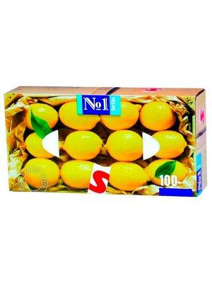 BELLA Платочки бумажные 2-х слойные 100 шт.с запахом лимона/30/ ВЕ-042-U100-016