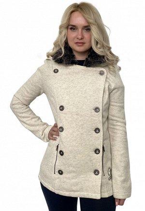 Женское пальто-толстовка Harley-Davidson – приталенный фасон, объемный капюшон, роскошная вышивка на спинке №1002