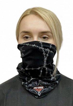 Байкерский шарф-маска - шарф на шею в стиле Harley-Davidson