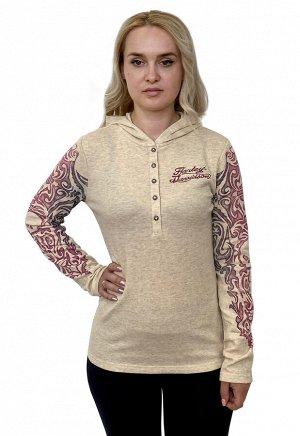 Женская футболка Harley-Davidson с длинным рукавом – крутой реглан с масштабным тату-принто №1109