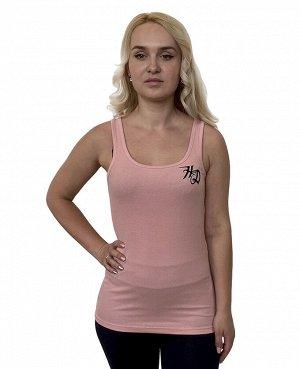 Светло-розовая женская майка Harley-Davidson – мото-tattoo-принт на груди и спинке №1048