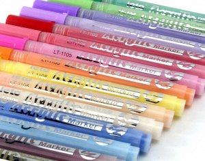 Акриловые маркеры Leto 12 цветов