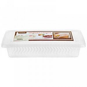 Контейнер для продуктов пластмассовый 1,2л, 27,5х11,5см h6см