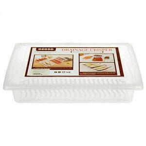 Контейнер для продуктов пластмассовый 2л, 28х20,5см h5,5см.
