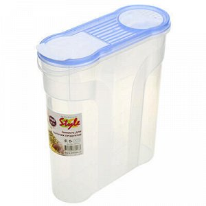 Контейнер для сыпучих продуктов пластмассовый 2,9л, 22х9х24с