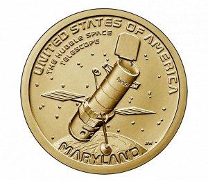США 1 доллар 2020 Космический телескоп «Хаббл» Американские инновации
