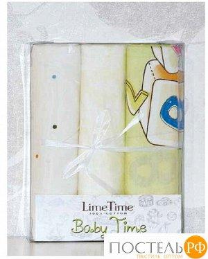 Набор простыней Lime Time Baby Time сатин рис. Букварь 3 шт, 100*150 см