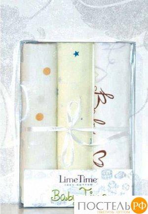 Набор простыней Lime Time Baby Time сатин рис. Снежная королева 3 шт, 100*150 см