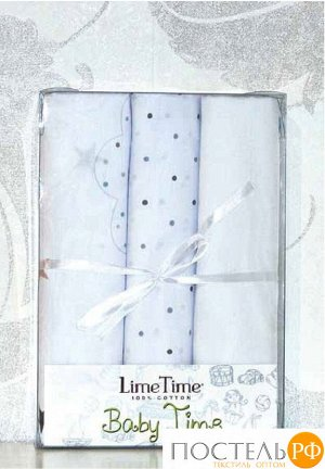 Набор простыней Lime Time Baby Time сатин рис. Теремок 3 шт, 100*150 см