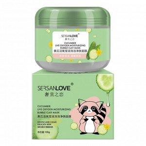 Пузырьковая маска с экстрактом огурца SersanLove Сucumber Live Oxygen Moisturizing Bubble Clay Mask 100гр