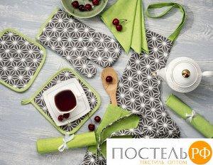 Набор кухонный «Абстракция серая» Прихватка, Варежка, Полотенце - 2 шт
