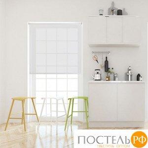 Рулонная штора Вэил Белый 180x175