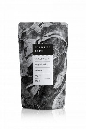 Соль для ванн Marine Life - English salt (Соль Английская - эпсом),1кг