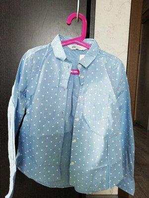 Хлопковая рубашка Светло-голубой / Звезды р. 122-128 дешевле сп