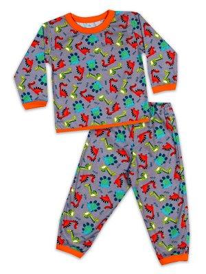 Детская пижама для мальчиков, штаны+кофта.