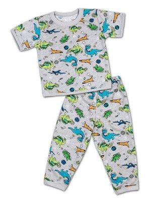 Детская пижама для мальчиков, штаны+футболка.