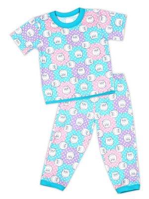 Детская пижама для девочек, штаны+футболка