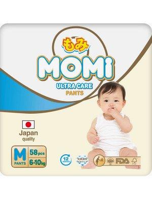 MOMI Ultra Care подгузники-трусики   M (6-10 кг ). 58  шт