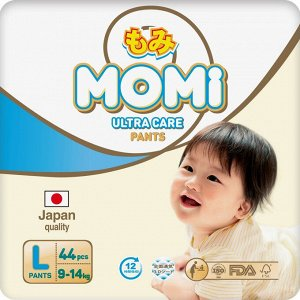 MOMI Ultra Care подгузники-трусики  L (9-14 кг). 44  шт