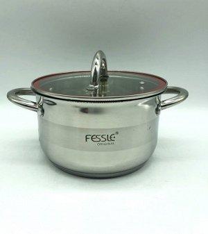 Кастрюля из нержавеющей стали с крышкой FESSLE диаметр 24 см (6,1 л)