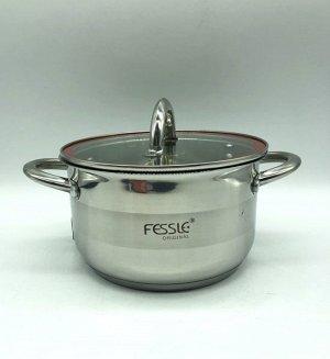 Кастрюля из нержавеющей стали с крышкой FESSLE диаметр 20 см (3,6 л)