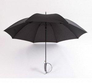 Зонт в виде шпаги, цвет черный